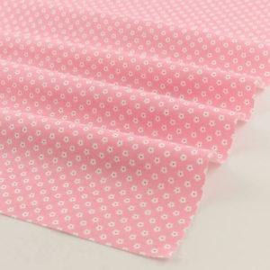 Ткань розовая с цветочками