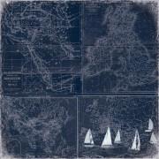 Бумага 30,5х30,5 см «Морские глубины»