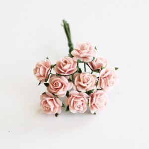 Розочки розово-персиковые