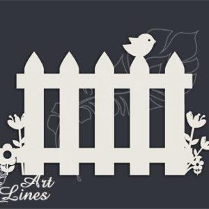Забор с птичкой