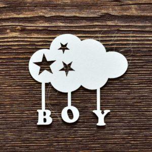 Чипборд BOY облачко