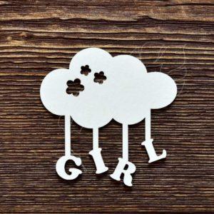 Чипборд GIRL облачко