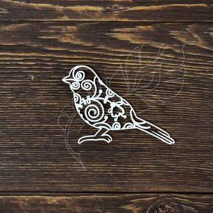 Чипборд Кружевная птичка