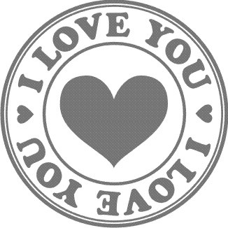 Штамп I LOVE YOU