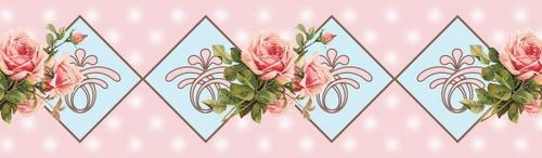Бумажный скотч с принтом Свежие розы