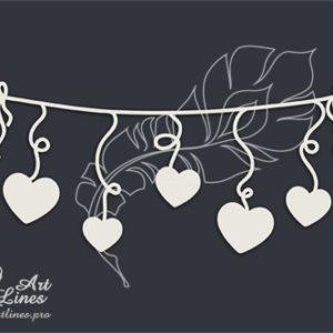 Веревочка с сердечками