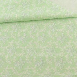 Ткань светло-зеленая с узором