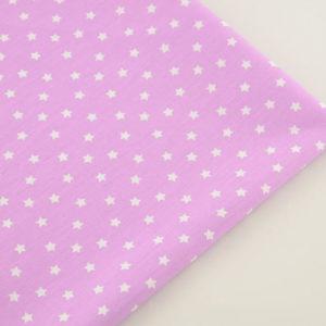 Ткань для скрапбукинга розовая со звездочками