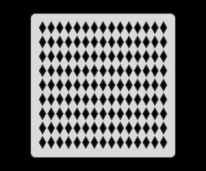Трафарет Алмазы (15х15 см)