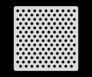 Трафарет Горох (15х15 см)