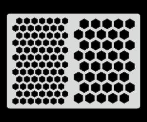 Трафарет Соты (15х20 см)