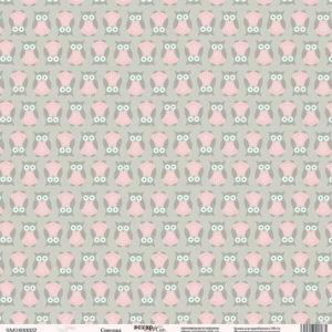 Лист односторонней бумаги 30x30 от Scrapmir Совушка