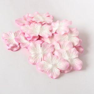 Гортензии большие светло-розовый + белый