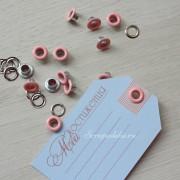 Набор люверсов 5 мм, 10 шт., розовые