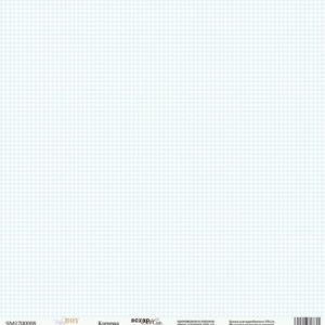 Лист односторонней бумаги 30x30 от Scrapmir Клеточка