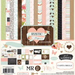 Набор бумаги Rustic Elegance Collection Kit 30х30 см от Carta Bella