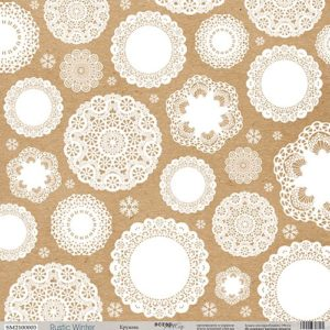 Лист односторонней бумаги 30x30 от Scrapmir Кружева из коллекции Rustic Winter