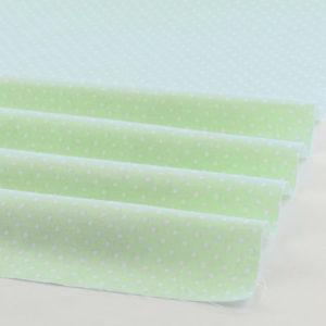 Ткань светло-зеленая в горошек