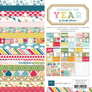 Набор бумаги 30х30 Echo Park Paper - Through the Year Collection Kit