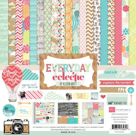 Набор бумаги 30х30 Echo Park - Everyday Eclectic Collection Kit