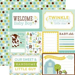 Лист бумаги для скрапбукинга Welcome Baby Boy - Echo Park Paper