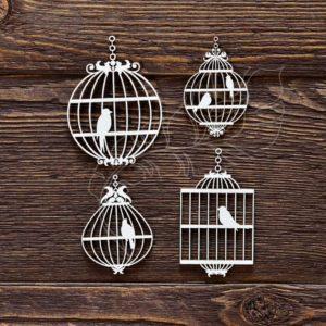 Чипборд Клетки с птицами