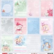 Бумага для скрапбукинга Зимняя ягодка Карточки 2