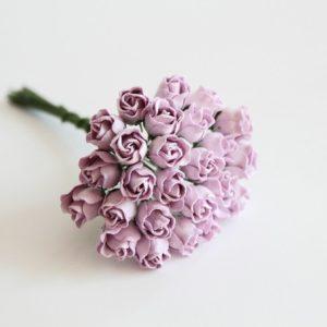 Мини бутон розы полураскрытый сиреневый, 1 шт.