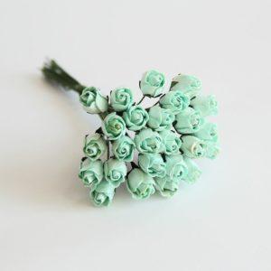 Мини бутон розы полураскрытый мятный, 1 шт.