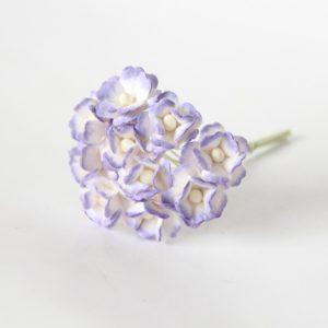 Цветы вишни средние сиреневый+белый, 10 шт.