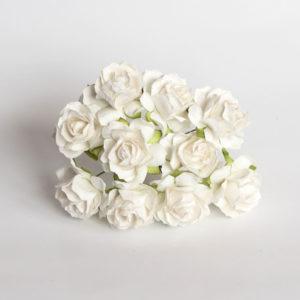 Роза кудрявая белая 3 см