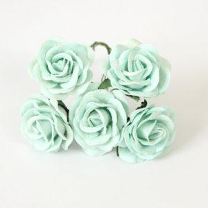 Мятная роза с закругленными лепестками 4 см