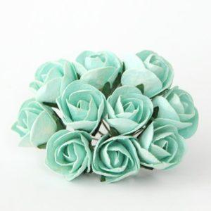 Макси бутон розы полураскрытый мятный