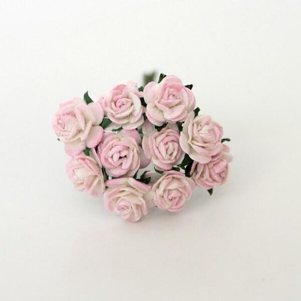 Розочки белый+розовый