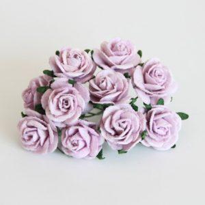 Сиреневые розы 2 см