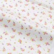 Ткань для скрапбукинга цветочки на белом фоне, 40х50 см
