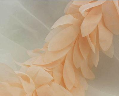 Шифоновые лепестки персиковые, 10 см