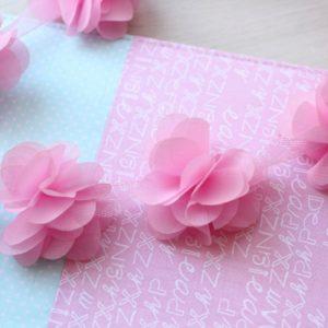 Розовый шифоновый цветок, 1 шт.