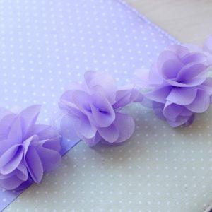 Сиреневый шифоновый цветок, 1 шт.