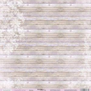 Лист односторонней бумаги 30x30 от Scrapmir Доски из коллекции Сиреневые мечты
