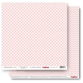 Бумага для скрапбукинга Элегантно Просто Клетка Розовый Кварц