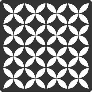 Трафарет для скрапбукинга Абстракция (15х15 см)