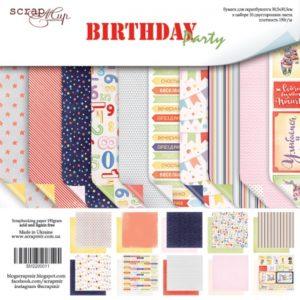 Набор двусторонней бумаги 30х30см от Скрапмир Birthday Party (Scrapmir)
