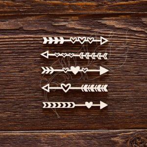 Чипборд Стрелочки - сердечки