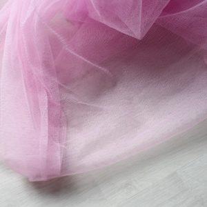 Фатин розовый