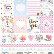 Лист бумаги Мона Дизайн Cards2 Chic wedding