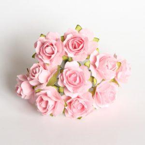 Роза кудрявая розово-персиковая 2 см, 10 шт.