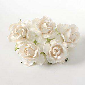 Роза кудрявая белая 4 см, 1 шт.