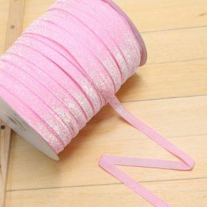 Розовая блестящая неэластичная тесьма, 1 ярд