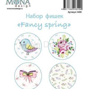 Набор фишек для скрапбукинга Мона Дизайн Fancy Spring
